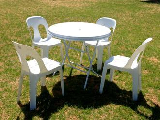 90cm Round Cafe Table With Pipee Chair Part 43